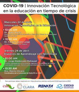 COVID-19 | Innovación Tecnológica en la educación en tiempo de crisis